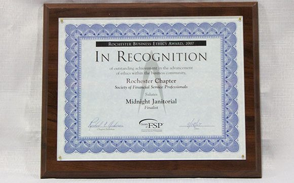 Rochester Business Ethics Award Finalist 2007