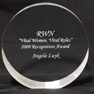 """Vital Women, Vital Roles"" Recognition Award."