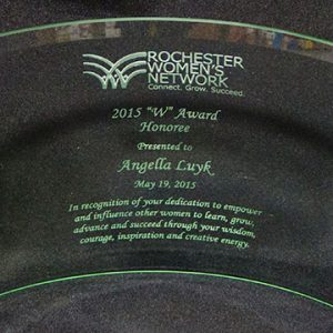 "Rochester Women's Network ""W"" Award Honoree 2015"