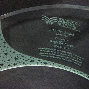 "Rochester Women's Network ""W"" Award Nominee 2011"
