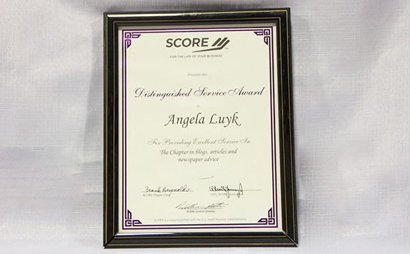 SCORE Distinguished Service Award